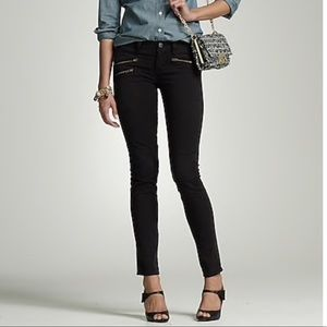 Jcrew toothpick zipper black jeans